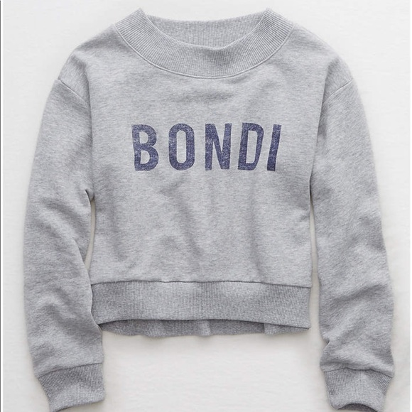 Aerie Tops Bondi Cropped Beach Fleece Poshmark